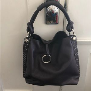 Dark Purple BCBG Leather handbag